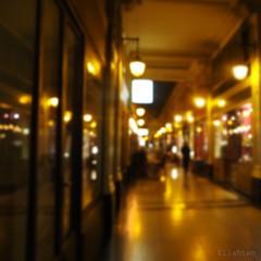 Profondeurs (nathaliedunaigre) Tags: nuit night paris galerie passage people passante flou blurr blurred lights lumières carré square profondeurdechamp