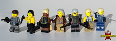 The Sons of Liberty (Saber-Scorpion) Tags: lego minifig minifigures moc brickarms brickforge mgs metalgear mgs2 metalgearsolid2 sonsofliberty solidsnake snake vamp fortune revolverocelot solidussnake olgagurlukovich raiden deadcell