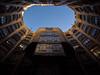 Casa Milà (Iain Husbands) Tags: omd casamilà gaudi em5 sunlight 2016 yellow shade barcelona
