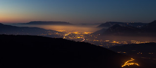 Chambery & Aix les Bains viewed from the Collet d'alllevard