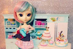 Baking Fever! (undiscovereddepths) Tags: baking cake rement pullip yona barbie cupcake sugar pastel doll jpgroove mickey mouse cooking
