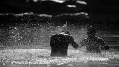 Black games in water (marcomariamarcolini) Tags: water oman daylight nikon nikkor d810 wow blackandwhite bnw bw black men games game spray drops backlight silver freeze highspeed shutter digital acqua spruzzi giochi neri gocce allegria gioco bagno nuoto swim marcomariamarcolini