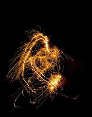 Angry Bird (Mattijsje) Tags: angry bird sparkles imagination imagine abstract fireworks fire night shot long exposure
