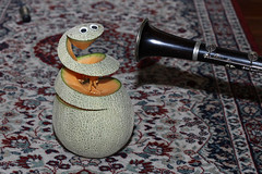"008/365 Melon Charming (ruthlesscrab) Tags: wah ""we'rehere"" hereios ""366the2017edition"" 3662017 ""day8365"" 8jan17 melon charming melancharmy clarinet canteloup"