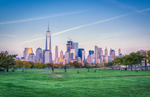 Downtown New York Skyline from Liberty State Park