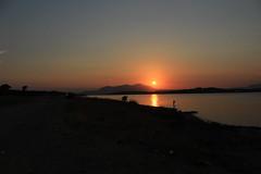 Quiet. (ceciliacarniti) Tags: sunset photography photo photographer photoftheday sea sky orange fish greece grecia mare cielo tramonto salamina arancione rosso red
