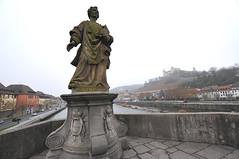 Alte Mainbrücke, Würzburg (Gerry van Gent) Tags: altemainbrücke würzburg oldmainbridge bridge rivermain bavaria germany baroque statues saints