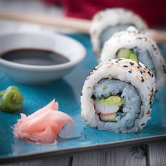 Homemade California Rolls… Easy! (Photos & Food Blog) Tags: photosandfoodphotosfoodjanuary252017californiarollss avocado californiarolls easycaliforniarolls homemadecaliforniarolls imitationcrabmeat japaneserice nori noriseaweed sesameseeds soysauce surimi sushi sushirice wasabi