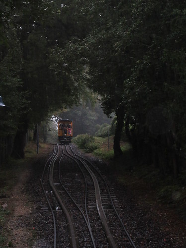 Nerobergbahn im Regen