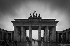 Brandenburg Gate (Martin_Finlayson) Tags: brandenburg gate berlin germany wet monument monochrome dramatic nikon d600 1835mm lightroom