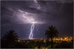 Lightning over Fremantle harbour (beninfreo) Tags: lightning storm thunder thunderstorm bolt electricity light night fremantle perth westernaustralia aussie weather canon canon5d3 markiii