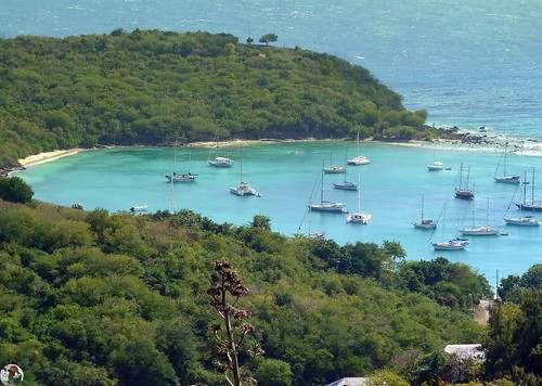 Antigua - View from the Dow Hill Fort - Beautiful bay near the Galleon Beach Club