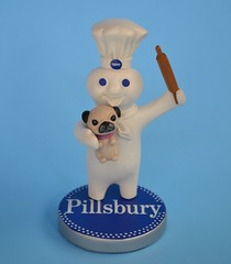 Poke Me And The Pug Gets It! (DaPuglet) Tags: pillsbury doughboy pillsburydoughboy figurine collectible kitchen pug pugs dog dogs poke funny cute lol meme