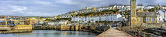Porthleven - harbour (Bobinstow2010) Tags: cornwall porthleven harbour sea wall clock tower pano houses shops church