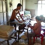 Herstellung von Reisnudeln im Mekong Delta