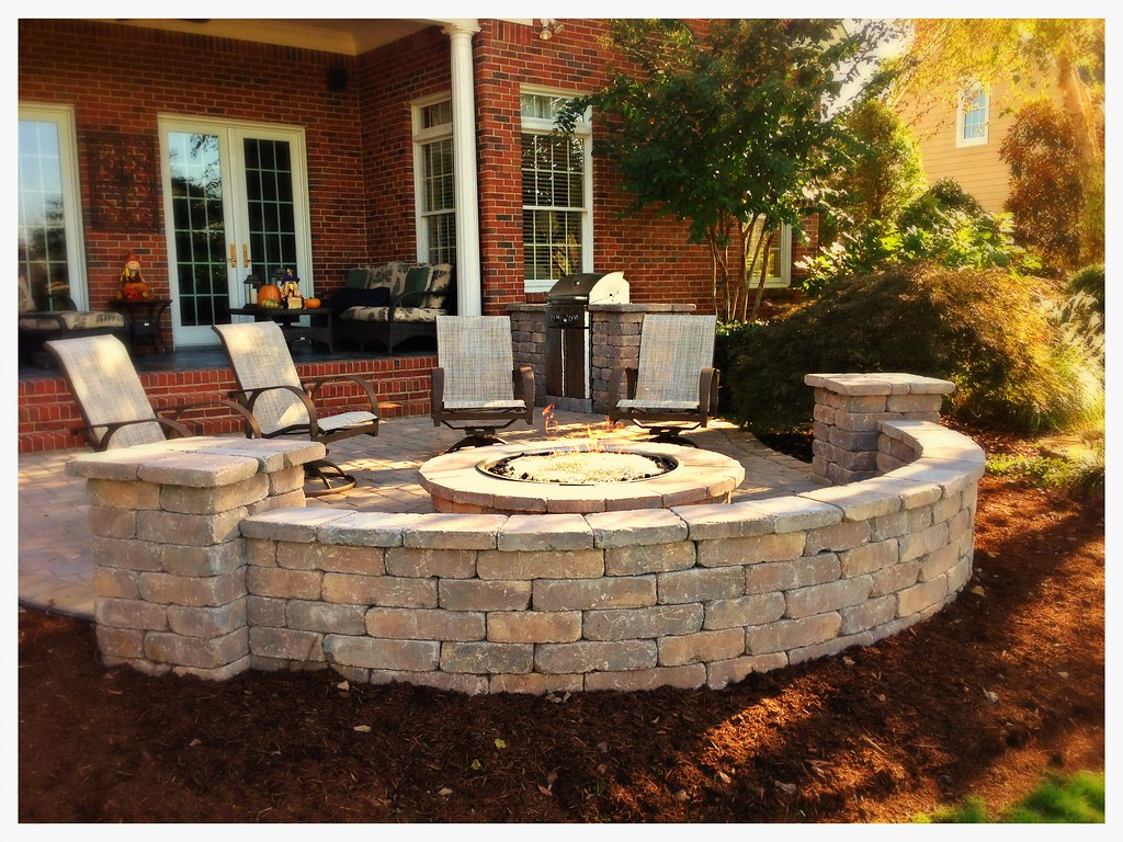 "Custom Outdoor Fire Pit, and 24"" AOG Grill Chattanooga, Tn."