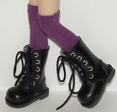 Tall Purple Socks For Blythe...