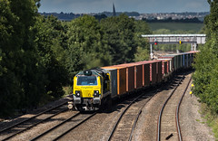 Freight liner Class 70 no 70016 at Tupton on 27-08-2015 with a Leeds to Southampton Intermodal service (kevaruka) Tags: summer england sun color colour colors sunshine composition train canon flickr colours derbyshire transport rail railway sunny august trains 5d locomotive frontpage britishrail chesterfield sunnyday fugly choppers freightliner 2015 intermodal networkrail ef100400l tupton 70016 class70 canon5dmk3 5dmk3 5d3 5diii thephotographyblog canon70200f28ismk2 canoneos5dmk3 tuptonbridge