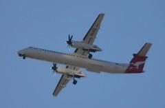 Qantas Link Dash 8 Q402 VH-QOY Flyover Coburg 10 AUG 2015 (denmac25) Tags: coburg 8 melbourne dash link qantas flyover tullamarine q402