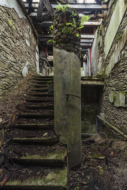 paper factory stairs