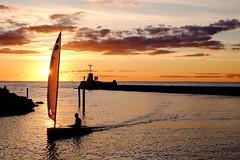 Lomma Sunset (Håkan Dahlström) Tags: sunset sea sky orange photography se evening harbor skåne sweden cropped f50 öresund lomma hamn 2015 skånelän xe2 xf35mmf14r ¹⁄₁₈₀₀sek 14208092015193209