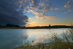 Therapeutic (fool's itch) Tags: sunset water rural landscape pond skyandclouds therapeutic nikond3200 reflectionsinthewater southwesternontario beautyofnature stratfordon outdoorshot