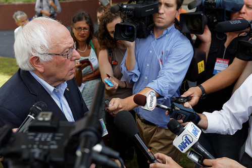 US Senator of Vermont Bernie Sanders in Conway NH on August 24th 2015 by Michael Vadon