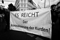 . (Thorsten Strasas) Tags: berlin turkey kreuzberg de demo deutschland march rally protest demonstration violence conflict kundgebung attacks neukoelln kurdistan tuerkei kurds hdp akp kurden pkk schwarzweis receptayyiperdogan konflikt