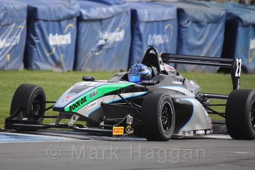 Sean Walkinshaw Racing's Jordan Albert in BRDC F4 Race Two at Donington Park, September 2015