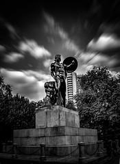 Statue of Achilles (S.A.W. Pixels) Tags: park england london statue dark greek dramatic hydepark achilles darkclouds greeks greatphotographers