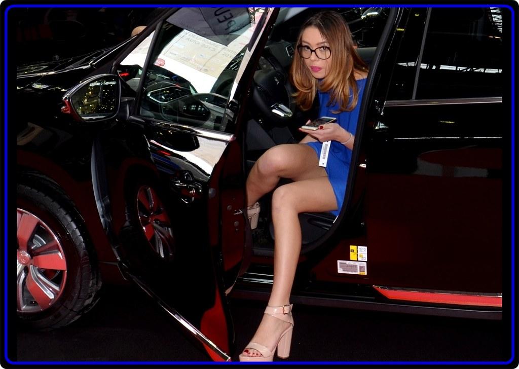 Erotic car woman