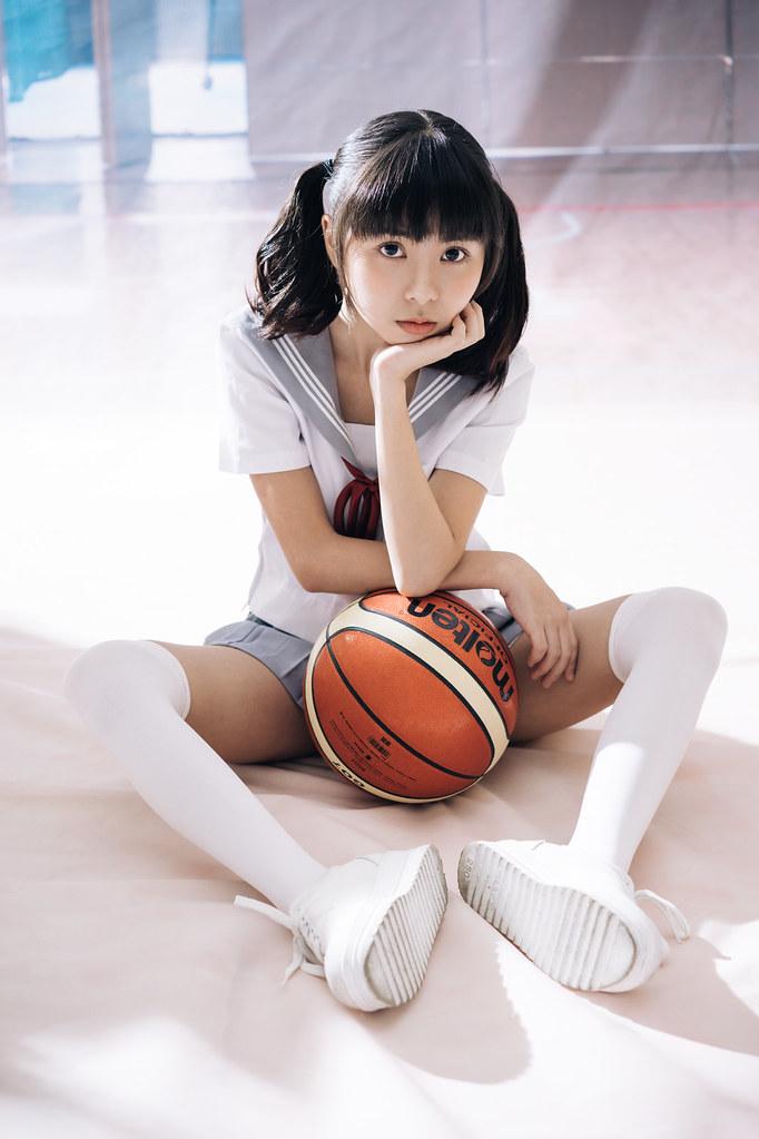 socks Asian girl white