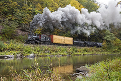 2015-10-03 1027 Swinging Bridge Runby 1, Moore- Keppel No. 3, Durbin, WV (jimkleeman) Tags: dgv climax climax3