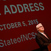 Chancellor Woodson delivers his speech Monday at the Chancellor's Fall Forum.