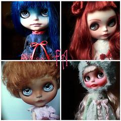 Iris custom Ooak Blythe Art Doll