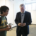 Inventor Tim Jenison with Cal Poly Student