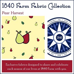 "Pear Harvest fabric was just added to our Etsy Shop as a preorder.  I can't wait to see what beautiful creations you'll be turning these new fall fabrics into!  #1840farm #FarmhouseStyle #pear #fall #autumn #fabric #EtsyShop • <a style=""font-size:0.8em;"" href=""http://www.flickr.com/photos/54958436@N05/22176169059/"" target=""_blank"">View on Flickr</a>"