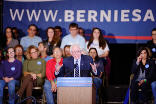 Senator of Vermont Bernie Sanders at Derry Town Hall, Pinkerton Academy NH October 30th, 2015 by Michael Vadon