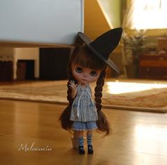 Bye bye! (Melacacia ☽) Tags: brown cute girl hair doll sweet orphan blythe artdoll custom prue rbl melacacia