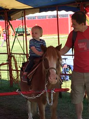 """Paul Rides a Pony with Daddy • <a style=""""font-size:0.8em;"""" href=""""http://www.flickr.com/photos/109120354@N07/22597685253/"""" target=""""_blank"""">View on Flickr</a>"""