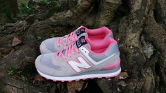 NB WL574CPF Women New Balance Suede Mesh Grey Pink Sneaker (RobertThrashy) Tags: beautiful shopping chic runner runningshoes coupon womensshoes retrostyle popshoes shoppingonline newbalance574 fashionsneakers intrend girlsrunningshoes storediscount