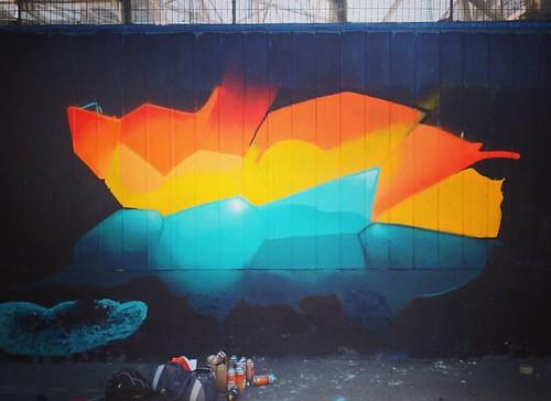 Proceso con los cabros del taller @converseskatecl #graffiti #voronoi
