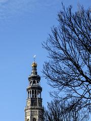 Lange Jan and some bare trees (Wouter de Bruijn) Tags: trees bare gothic churchtower fujifilm middelburg langejan xt1 fujinonxf35mmf14r