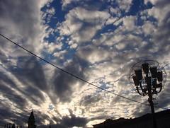 Le nuvole di Ivan  -  Ivan's clouds (Cristina 63) Tags: blue sky italy cloud white clouds torino grey europa europe italia nuvole grigio nuvola blu tetti belltower roofs campanile piemonte cielo lamps turin azzurro bianco piedmont lampioni piazzasancarlo nwn lucidartista sancarlosquare