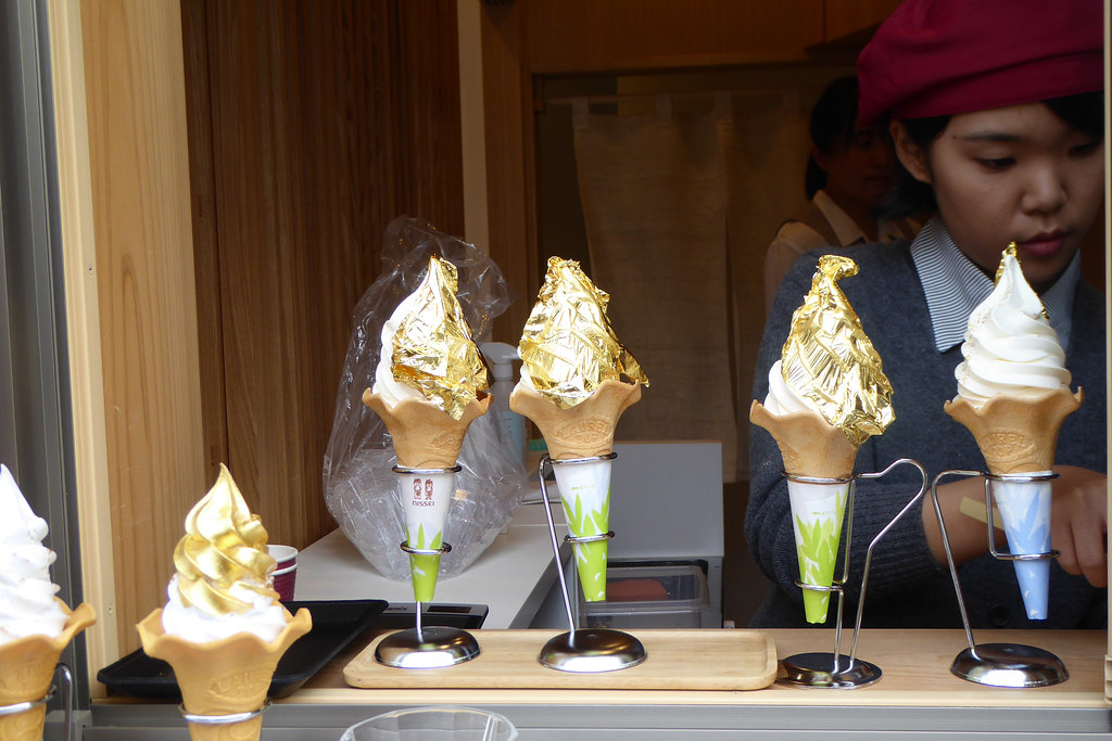 Golden ice cream