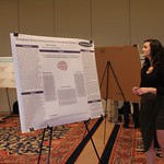 Student presents her research.