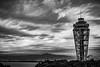 Rain is coming... (Kompakin Borwornpakramil) Tags: fujisawashi kanagawaken japan jp canon 1dx markii ef2470mmf28liiusm enoshima observationlighthouse moodandatmosphere bw blac monochrome