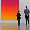 parenthood (me*voilà) Tags: museum sprengel painting people father daughter hannover orange onwhite