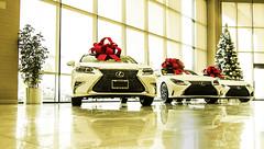 more gifts (jeffcay05) Tags: cars car lexus holidays gifts presents red bow christmas vehicle indoor showroom dealership vannuys keyes keyeslexus