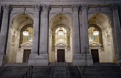 NYC Public Library (charlottehathawayfeatherstone) Tags: new york architecture buildings column arch indoor outdoor vault public library